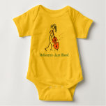 Double bass music baby bodysuit