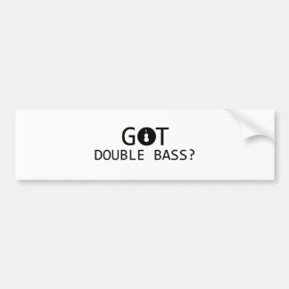 DOUBLE BASS music designs Bumper Stickers