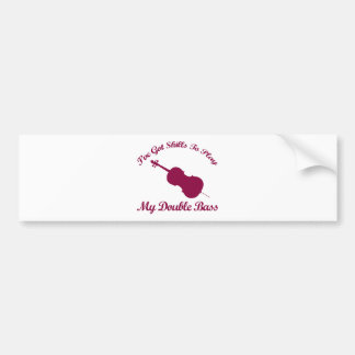 double bass musical designs bumper stickers
