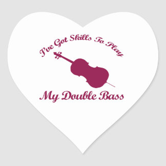 double bass musical designs stickers