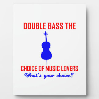 double bass musical instrument display plaques