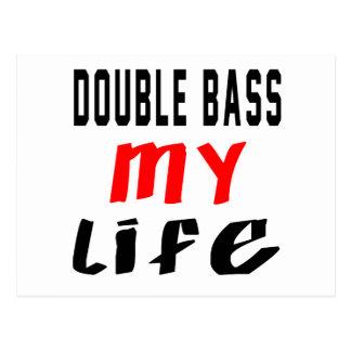 Double bass my life postcard