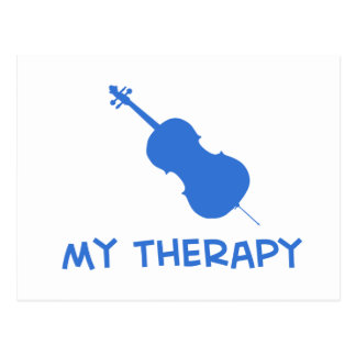Double Bass my therapy Postcard
