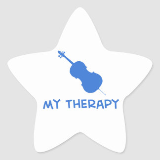 Double Bass my therapy Star Sticker
