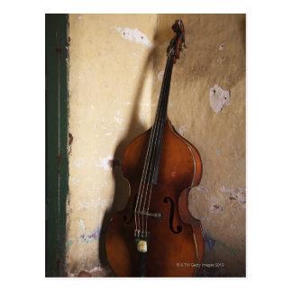 Double Bass Postcard