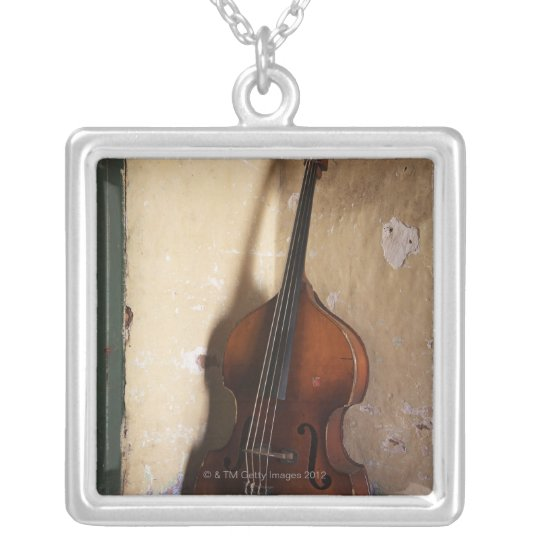 Double Bass Silver Plated Necklace