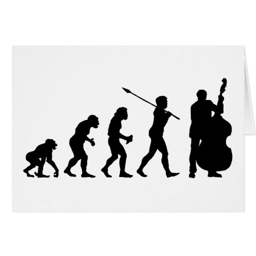 Double Bassist Greeting Card