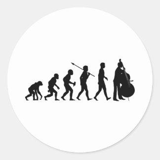 Double Bassist Classic Round Sticker