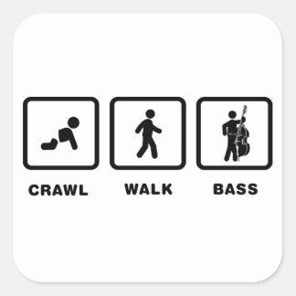 Double Bassist Square Sticker