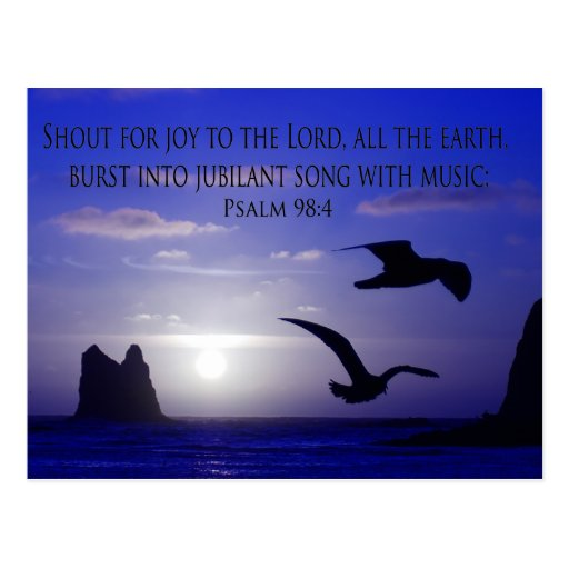 double bird blues shout to the Lord postcard