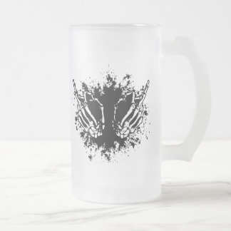Double Bird Frosted Glass Beer Mug