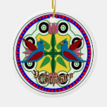 double bird hex sign christmas ornaments
