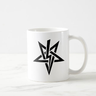 Double Black Anton Szandor LaVey Sigil Mug