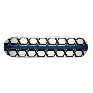 Double Black Helix (Blue) Skateboard Deck