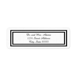 Double Black Trim - Address Label