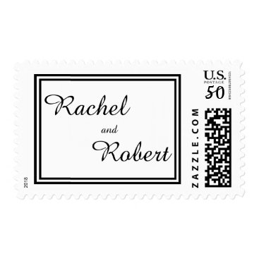 Professional Business Double Black Trim - Postage Stamp