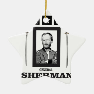 double blade Sherman cw Ceramic Ornament