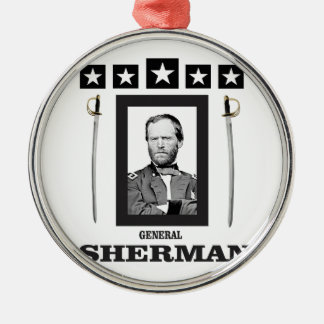 double blade Sherman cw Metal Ornament