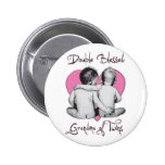 DOUBLE BLESSED   --GRANDMA OF TWINS 2 INCH ROUND BUTTON