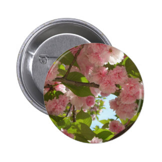 Double Blossoming Cherry Tree Button