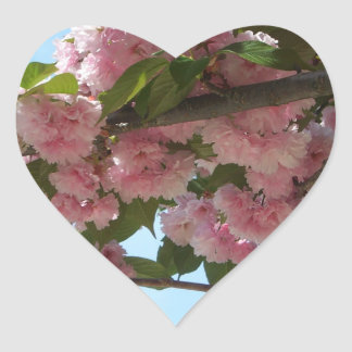 Double Blossoming Cherry Tree Heart Sticker