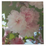 Double Blossoming Cherry Tree I Spring Floral Cloth Napkin