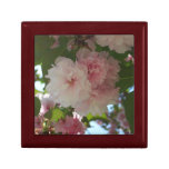 Double Blossoming Cherry Tree I Spring Floral Jewelry Box