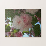 Double Blossoming Cherry Tree I Spring Floral Jigsaw Puzzle