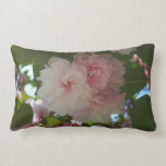 Double Blossoming Cherry Tree I Spring Floral Lumbar Pillow