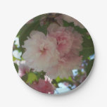 Double Blossoming Cherry Tree I Spring Floral Paper Plate