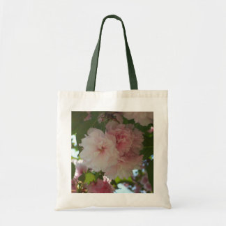 Double Blossoming Cherry Tree I Spring Floral Tote Bag