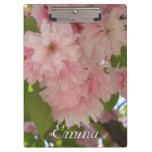 Double Blossoming Cherry Tree II Pink Spring Clipboard