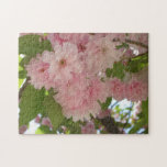 Double Blossoming Cherry Tree II Pink Spring Jigsaw Puzzle