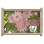 Double Blossoming Cherry Tree II Pink Spring Serving Tray