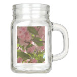 Double Blossoming Cherry Tree III Mason Jar