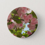 Double Blossoming Cherry Tree III Spring Floral Button