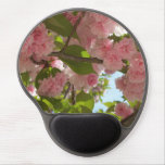 Double Blossoming Cherry Tree III Spring Floral Gel Mouse Pad