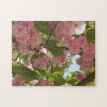 Double Blossoming Cherry Tree III Spring Floral Jigsaw Puzzle
