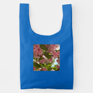 Double Blossoming Cherry Tree III Spring Floral Reusable Bag