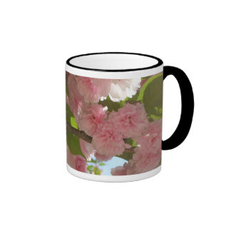 Double Blossoming Cherry Tree III Spring Floral Ringer Mug