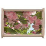 Double Blossoming Cherry Tree III Spring Floral Serving Tray