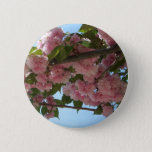 Double Blossoming Cherry Trees IV Pink Spring Button