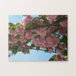 Double Blossoming Cherry Trees IV Pink Spring Jigsaw Puzzle