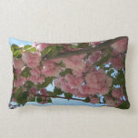 Double Blossoming Cherry Trees IV Pink Spring Lumbar Pillow