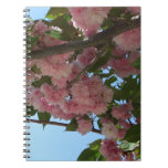 Double Blossoming Cherry Trees IV Pink Spring Spiral Notebook