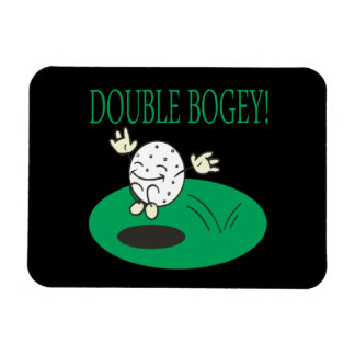 Double Bogey Rectangle Magnet