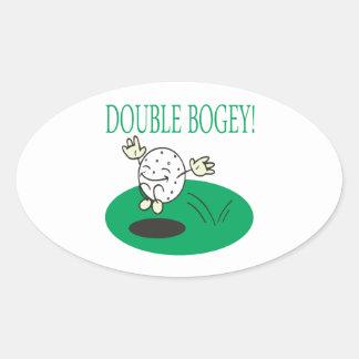 Double Bogey Oval Sticker