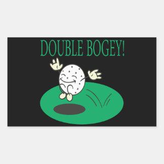 Double Bogey Rectangular Sticker