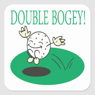 Double Bogey Square Sticker