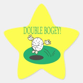 Double Bogey Star Sticker